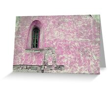Window in pink Greeting Card