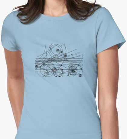 particle tracks Womens Fitted T-Shirt