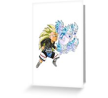Super Ghost Kamikaze Attack Greeting Card