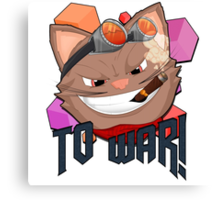 To War! Graphic Tee Canvas Print