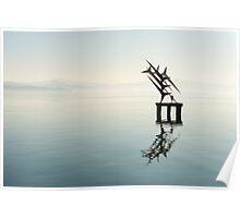 Floating sculpture, Passignano sul Trasimeno, Umbria Poster