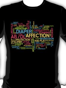 AB/DL words cloud T-Shirt