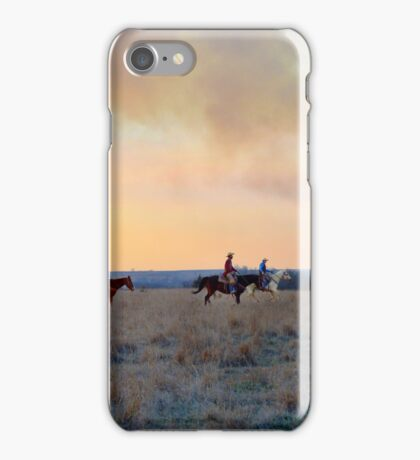 Three Riders in the Flint Hills of Kansas iPhone Case/Skin