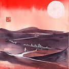 red moon sky by Ron C. Moss