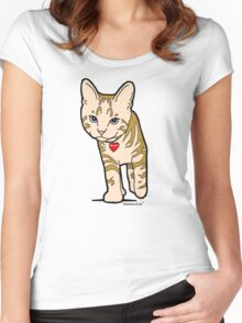 never trust a kat with a limp  (butch) Women's Fitted Scoop T-Shirt