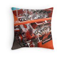 Orange Hot Rod #2 Throw Pillow