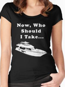 I'm on a boat Women's Fitted Scoop T-Shirt