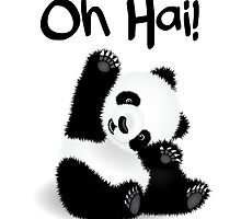 Baby Panda - Oh Hai! by mightyawesome