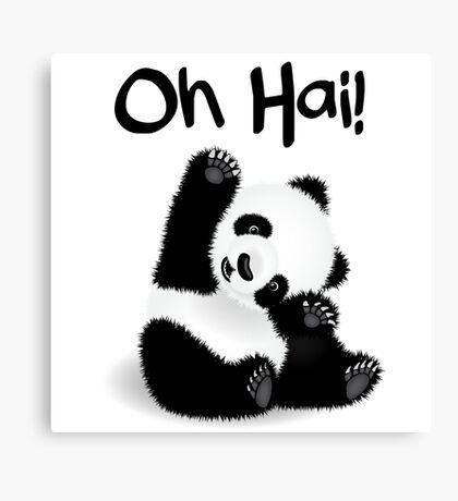 Baby Panda - Oh Hai! Canvas Print