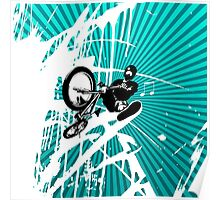 BMX Pop Art Blue Poster
