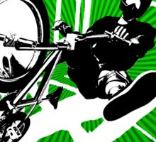 BMX Pop Art Green Sticker