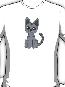 Gray Stripey Cat T-Shirt