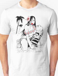 Hula Girl and Tiki # 3 Unisex T-Shirt