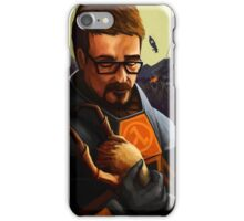 Gordon holding a headcrab iPhone Case/Skin