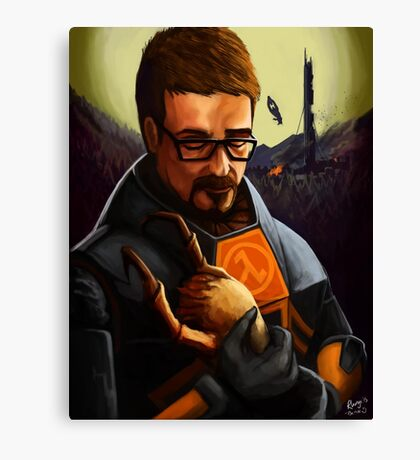 Gordon holding a headcrab Canvas Print