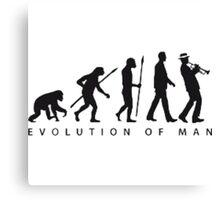 Evolution of man Canvas Print