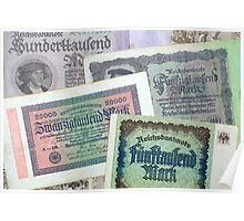 Historical banknotes Poster
