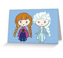 Lil' CutiEs - Summer & Winter Princesses Greeting Card