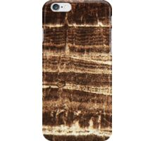Thin section of a calcareous stalagmite iPhone Case/Skin