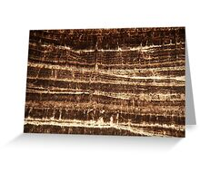 Thin section of a calcareous stalagmite Greeting Card