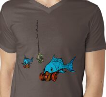 Gas Mask Fish Mens V-Neck T-Shirt