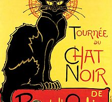 Le Chat Noir (Vintage Poster) by 45thAveArtCo