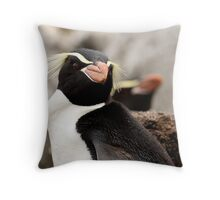 Snares Island Penguin Throw Pillow