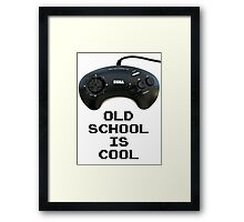 Old School Is Cool - Mega Drive Framed Print