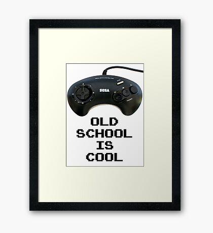 Old School Is Cool - Mega Drive Framed Print