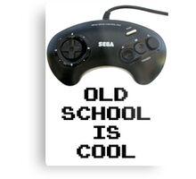 Old School Is Cool - Mega Drive Metal Print
