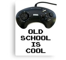 Old School Is Cool - Mega Drive Canvas Print