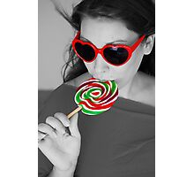 Miss Lollypop Photographic Print