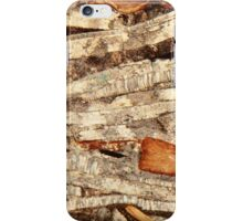 Thin section of fossil calcareous shell fragments  iPhone Case/Skin