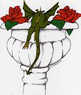 Oscar and the Roses(Urn) Sold  by Donna Huntriss