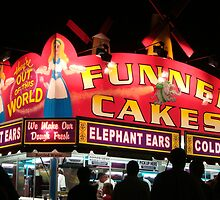 Neon Funnel Cakes Sign by Nanagahma