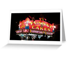 Neon Funnel Cakes Sign Greeting Card