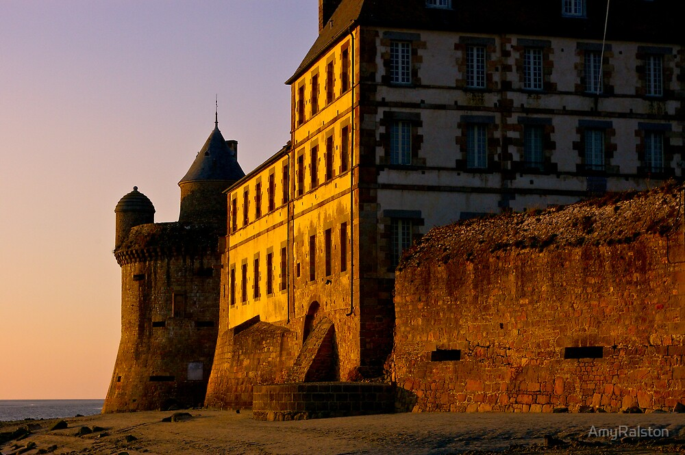 Dusk at the Mont Saint Michel  by AmyRalston