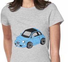 fiat 500 blue Womens Fitted T-Shirt