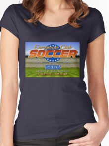 European Club Soccer - Mega Drive Women's Fitted Scoop T-Shirt