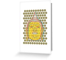 Buddha's Smile Zen Pop Art Greeting Card