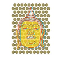 Buddha's Smile Zen Pop Art Photographic Print