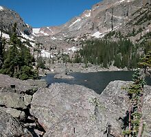 Emerald Lake Rocky Mountain National Park by Luann wilslef