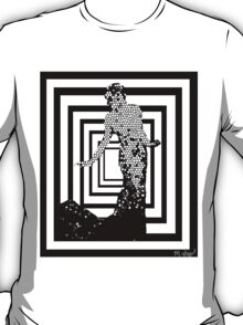 Black and White and Fabulous Mosaic Abstract T-Shirt