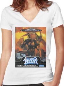 Altered Beast - Retro Mega Drive T-shirt Women's Fitted V-Neck T-Shirt
