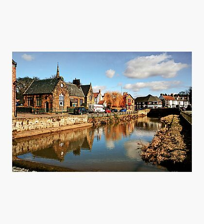 Refelctions in the River Leven at Great Ayton Photographic Print