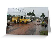 Waipio Acres Flood Greeting Card