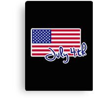 July 4th Independence day flag Canvas Print