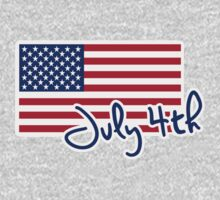 July 4th Independence day flag One Piece - Long Sleeve