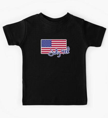 July 4th Independence day flag Kids Tee