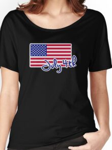 July 4th Independence day flag Women's Relaxed Fit T-Shirt